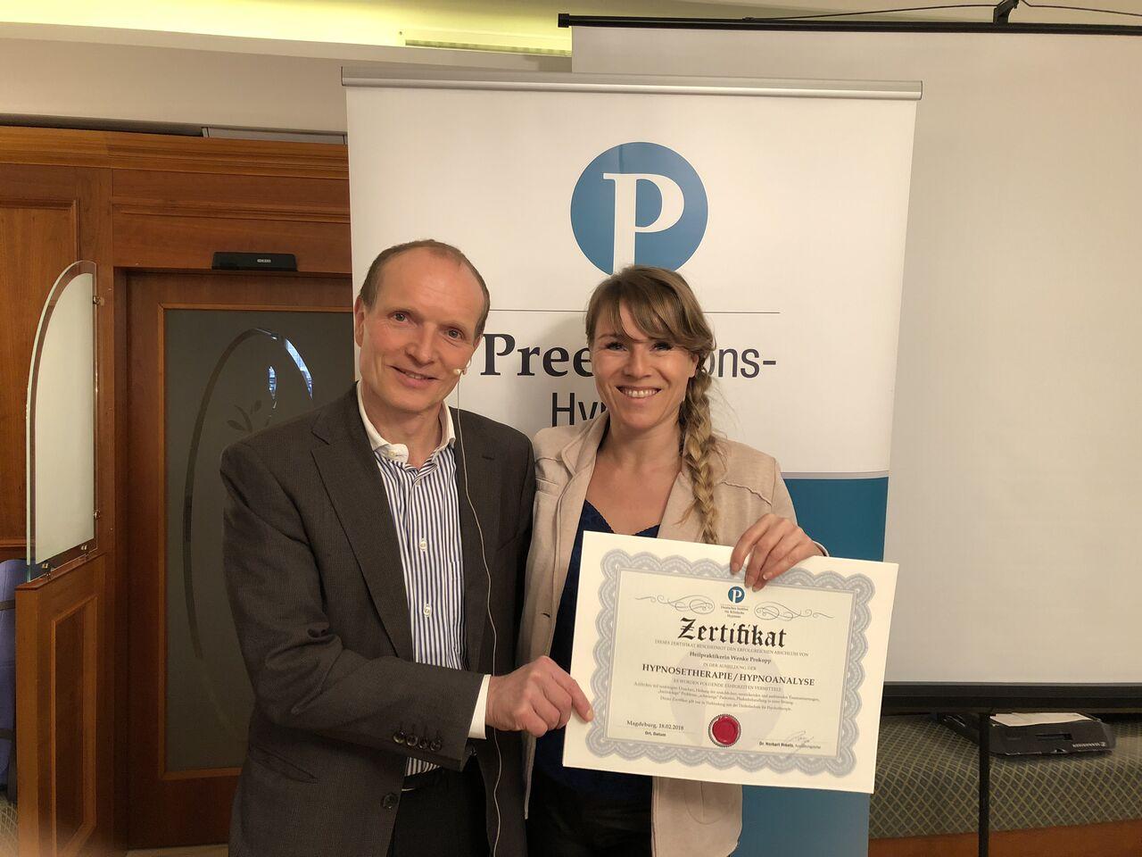 Hypnose Erfurt: Heilpraktikerin Wenke Prokopp aus Erfurt mit dem Zertifikat Hypnose